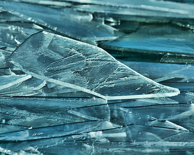 Photograph - Aqua Ice by Bill Kesler