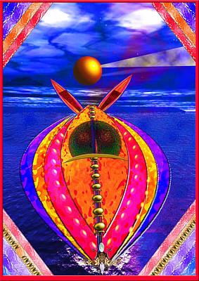 Aqua Jet Art Print by Peter Jenkins
