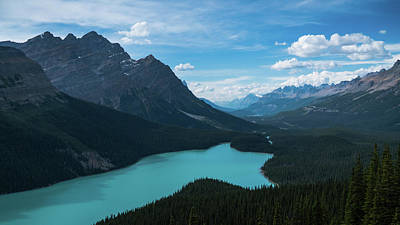 Photograph - Aqua Lake Banff Alberta Canada by Lawrence S Richardson Jr