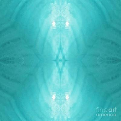Digital Art - Aqua Light Phantom by Rachel Hannah