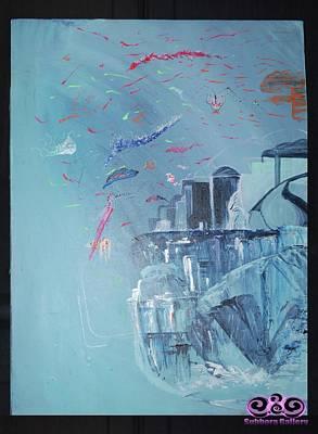 Painting - Aqua Resort by Subbora Jackson