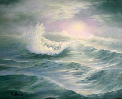 Aqua Sea Art Print