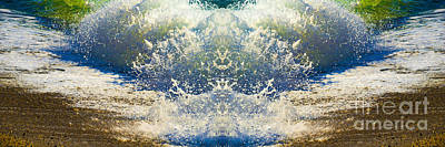 Digital Art - Aqua Splash Mirrored by Wendy Wilton