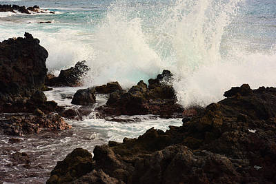 Photograph - Aqua Splash by Paulette B Wright