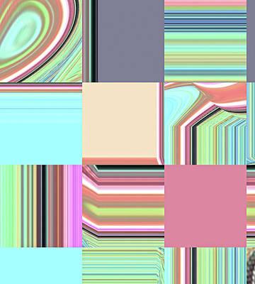 Digital Art - Aqua Squared by Ann Johndro-Collins