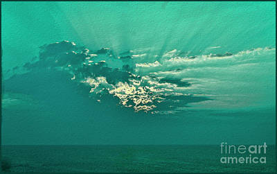 Photograph - Aqua Sunset by Jeff Breiman