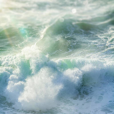 Print featuring the photograph Aqua Surge by Amy Weiss