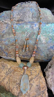 Jewelry - Aqua Terra Jasper #s52 by Barbara Prestridge