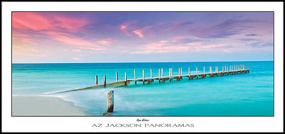 Dock Photograph - Aqua Waters Poster Print by Az Jackson