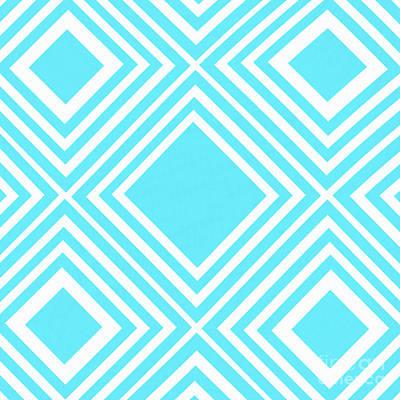 Photograph - Aqua White Pattern By Kaye Menner by Kaye Menner