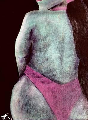 Woman Painting - Aqua Woman  by Jerel Ferguson