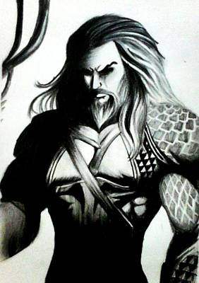 Dc Comics Drawing - Aquaman  by Rishav Shubham