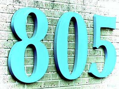 Photograph - Aquamarine Blue 805 On Brick by Tony Grider