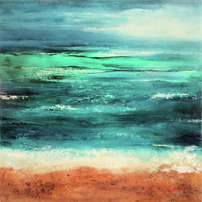 Painting - Aquamarine By V.kelly by Valerie Anne Kelly