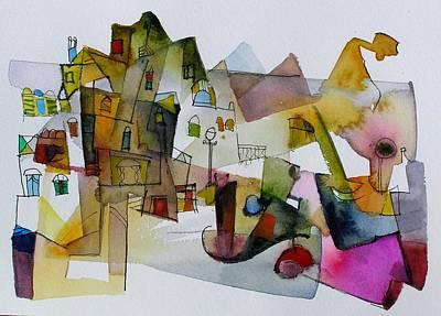 Aquarel No32 Art Print by Miljenko Bengez