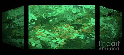 Digital Art - Aquaria Triptych by Tim Richards