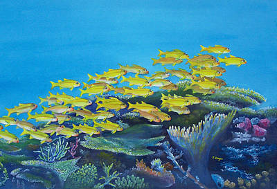 Painting - Aquariarama by Norman Freyer