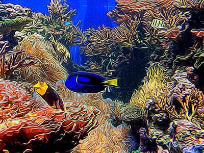 Aquarium Adventures In Abstract Art Print
