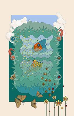 Aquarium Art Print by Edward Kinney