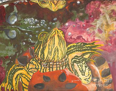 Slider Painting - Aquarium Reflection by Alia Outrey