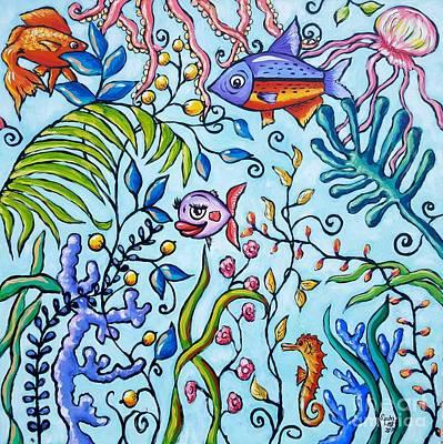 Painting - Aquarium by Sandra Lett