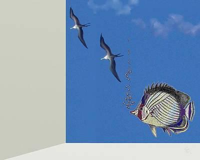 Aquarium Art Print by Tony Rodriguez
