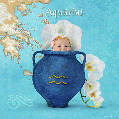Zodiac Photograph - Aquarius by Anne Geddes