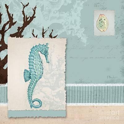Aquarius Painting - Aquarius I Blue Square by Paul Brent