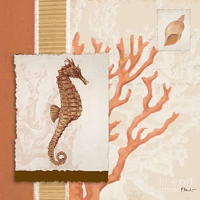 Aquarius Painting - Aquarius II Coral Square by Paul Brent