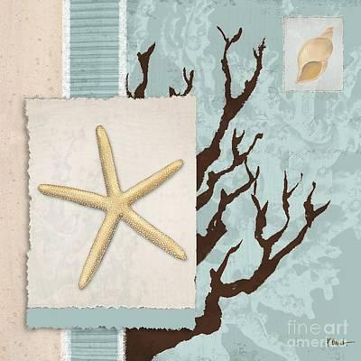 Aquarius Painting - Aquarius IIi Blue Square by Paul Brent