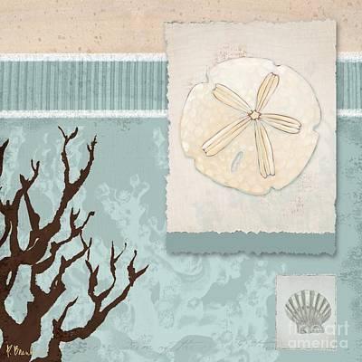 Aquarius Painting - Aquarius Iv Blue Square by Paul Brent