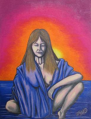 Art Print featuring the drawing Aquarius by Michael  TMAD Finney