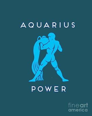 Digital Art - Aquarius Power by Judy Hall-Folde
