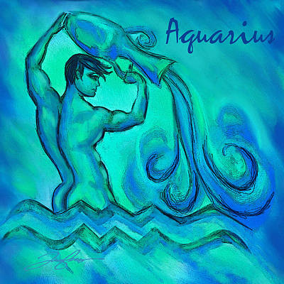 Painting - Aquarius by Tony Franza