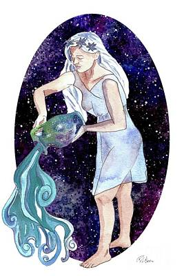 Painting - Aquarius Water Bearer by D Renee Wilson