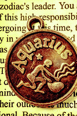 Astrology Photograph - Aquarius Zodiac Sign by Jorgo Photography - Wall Art Gallery