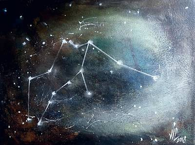 Painting - Aquarius.aquarius Constellation. Aquarius Art. by Vali Irina Ciobanu