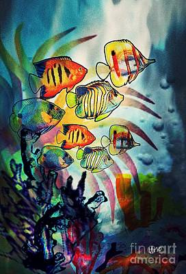 Digital Art - Aquatic Beauty 2 by Maria Urso