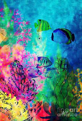 Digital Art - Aquatic Beauty by Maria Urso