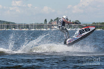 Photograph - Aquax Jetski Racing 1 by Steve Purnell