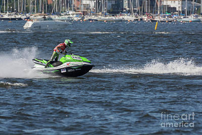Photograph - Aquax Jetski Racing 2 by Steve Purnell