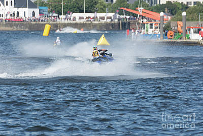 Photograph - Aquax Jetski Racing 3 by Steve Purnell