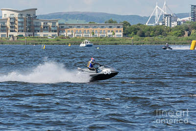 Photograph - Aquax Jetski Racing 4 by Steve Purnell