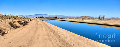 Photograph - Aqueduct And The Tehachapi Mountains by Joe Lach