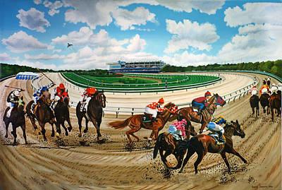 Aqueduct Racetrack Art Print by Bonnie Siracusa