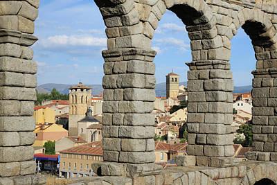 Ancient Rome Photograph - Aqueduct, Segovia, Spain by Jumper
