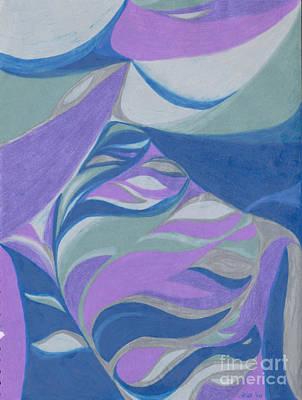 Lavender Drawing - Aqueous by Kim Sy Ok
