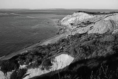 Photograph - Aquinnah Cliffs At Sunset Martha's Vineyard Cape Cod Black And White by Toby McGuire