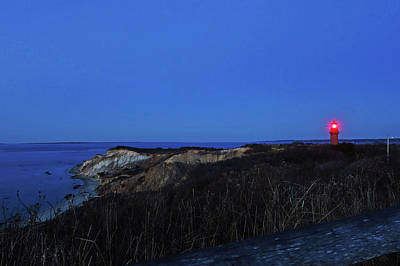 Photograph - Aquinnah Cliffs At Sunset Martha's Vineyard Cape Cod Gay Head Lighthouse Night by Toby McGuire