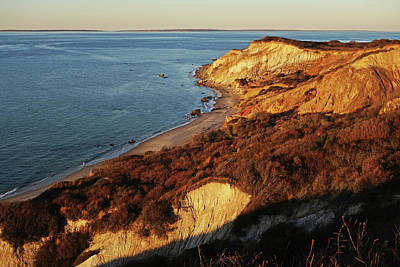 Photograph - Aquinnah Cliffs At Sunset Martha's Vineyard Cape Cod by Toby McGuire